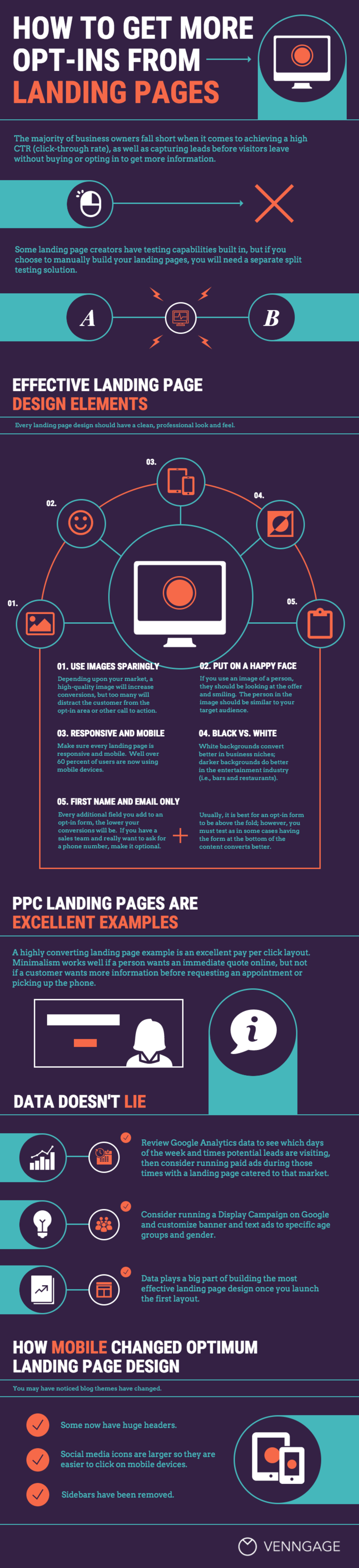 Landing Page Infographic Template