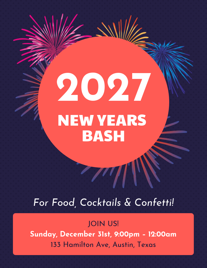 Dark New Year Poster Template