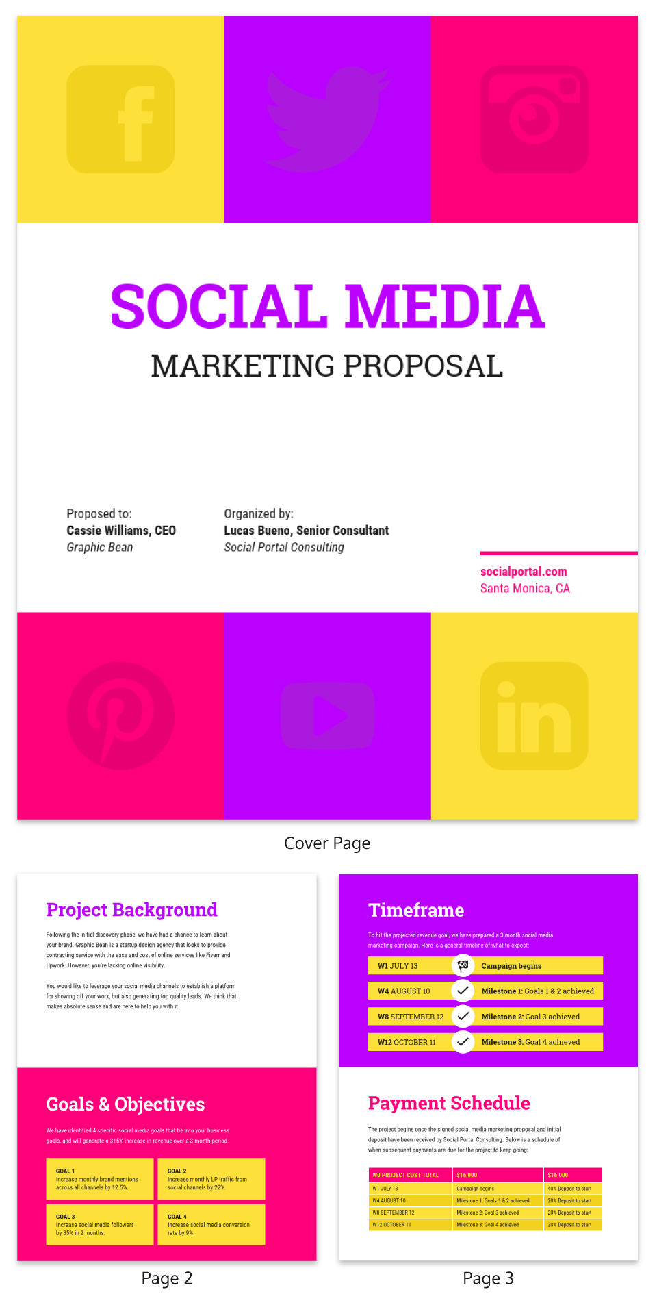 Bold Social Media Consulting Proposal Template