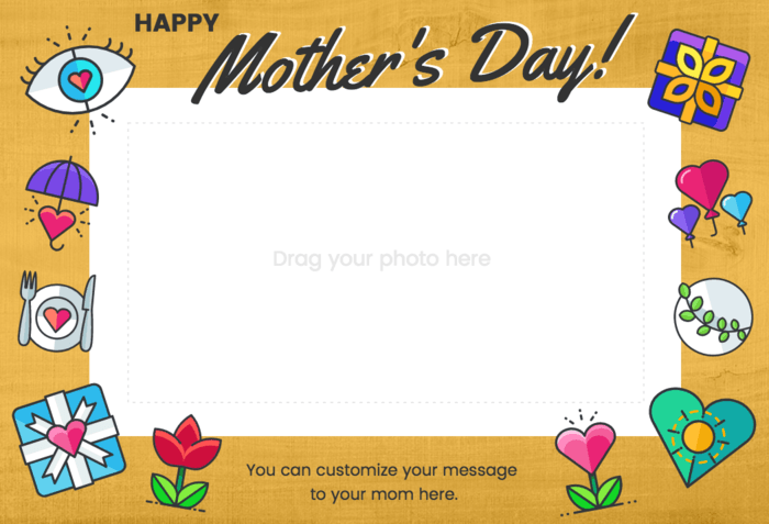 Mother's Day Photo Card Template