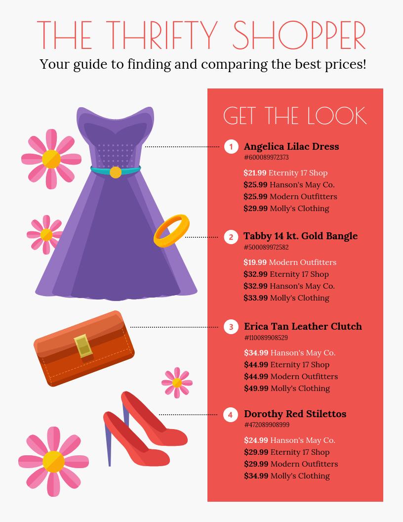 Price Comparison Infographic Template