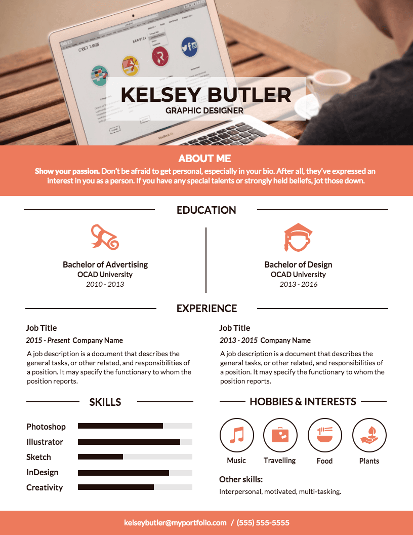 Professional Visual Resume Template