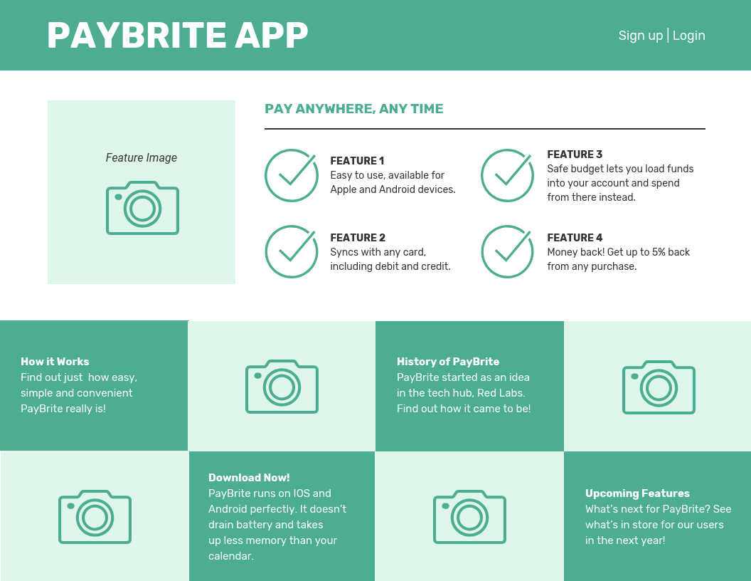 Online Website App Wireframe Template