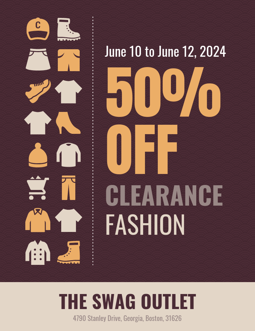 Iconic Retail Fashion Sale Flyer Template