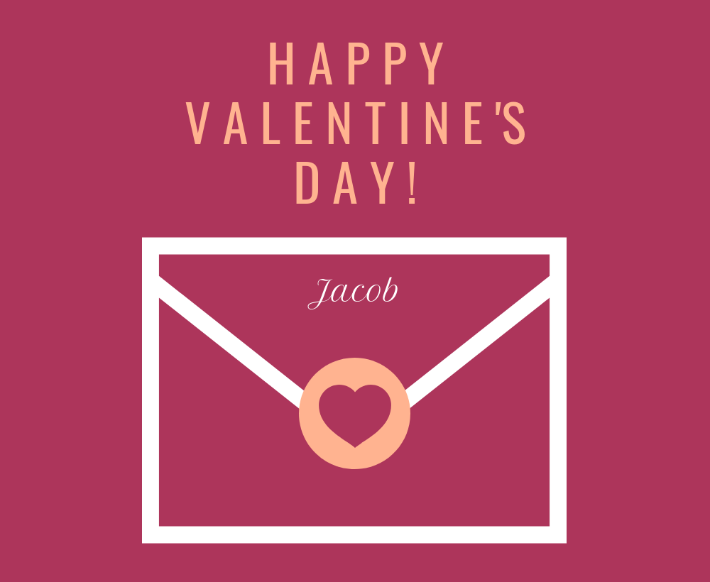 Personalized Valentine's Day Card Template