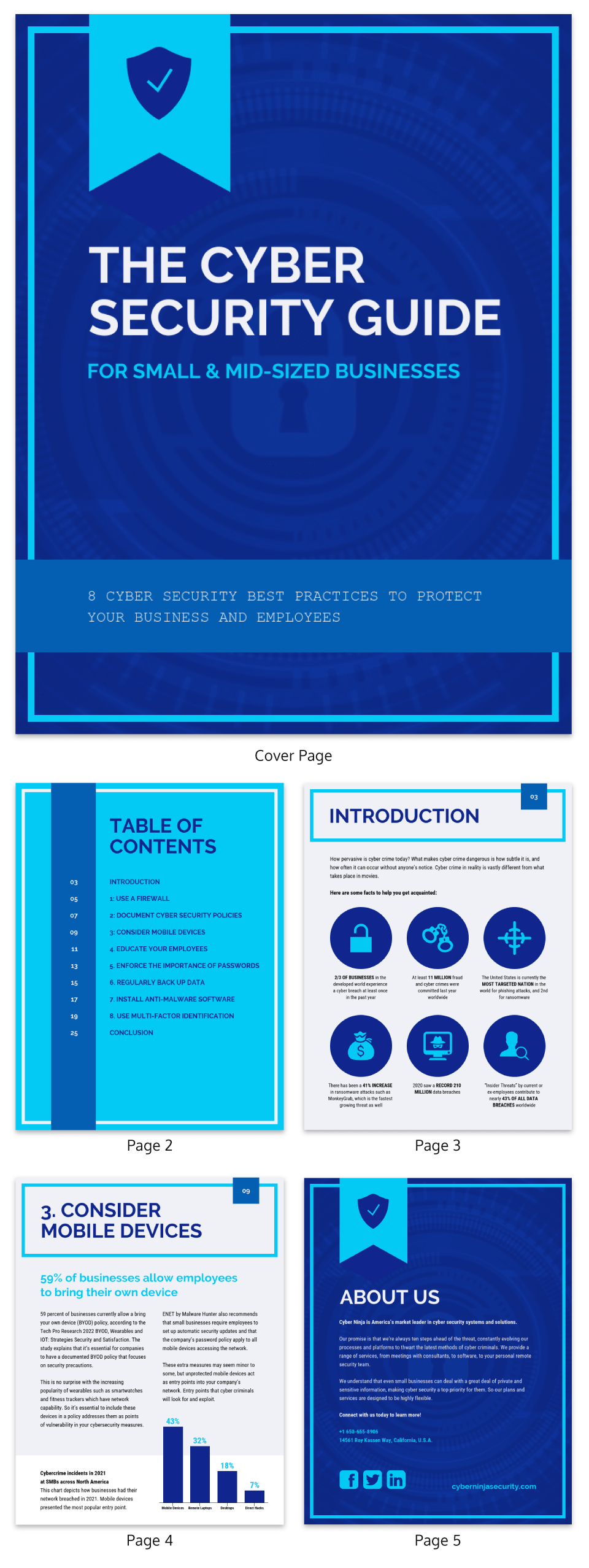 Electric Blue Cyber Security White Paper Template