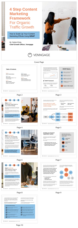 4 Steps Content Marketing Organic Traffic EBook Template