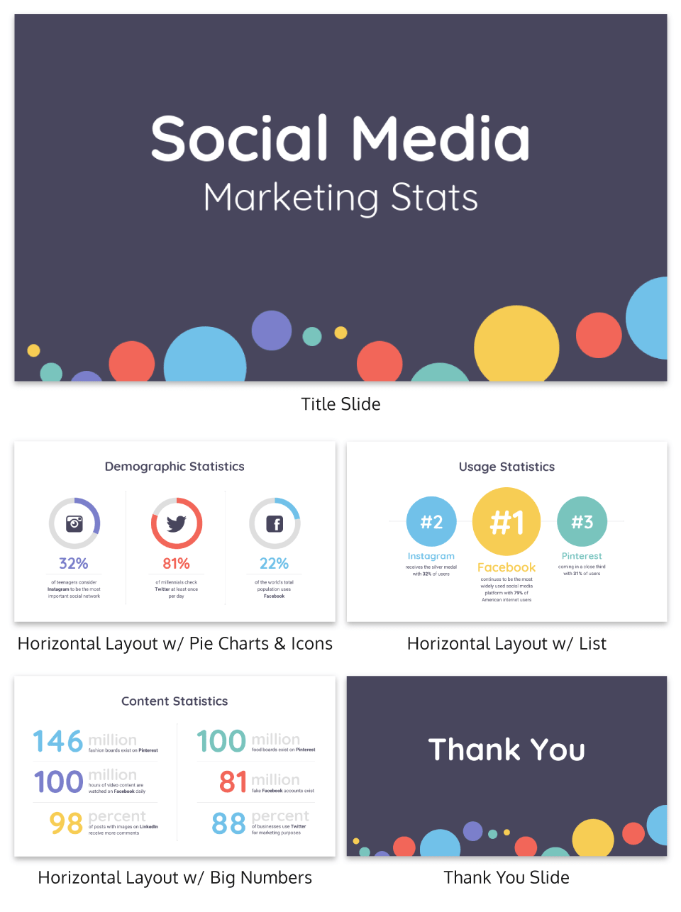 Social Media Business Presentation Template