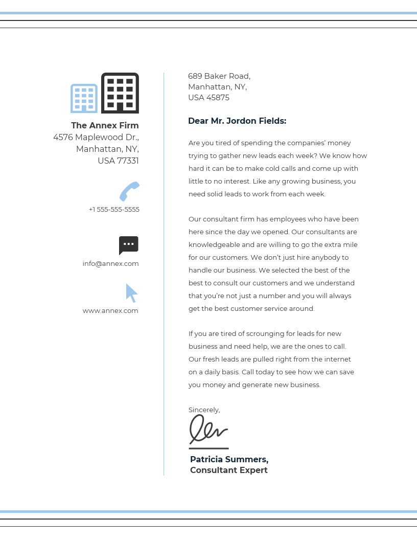 Simple Business Letterhead Template