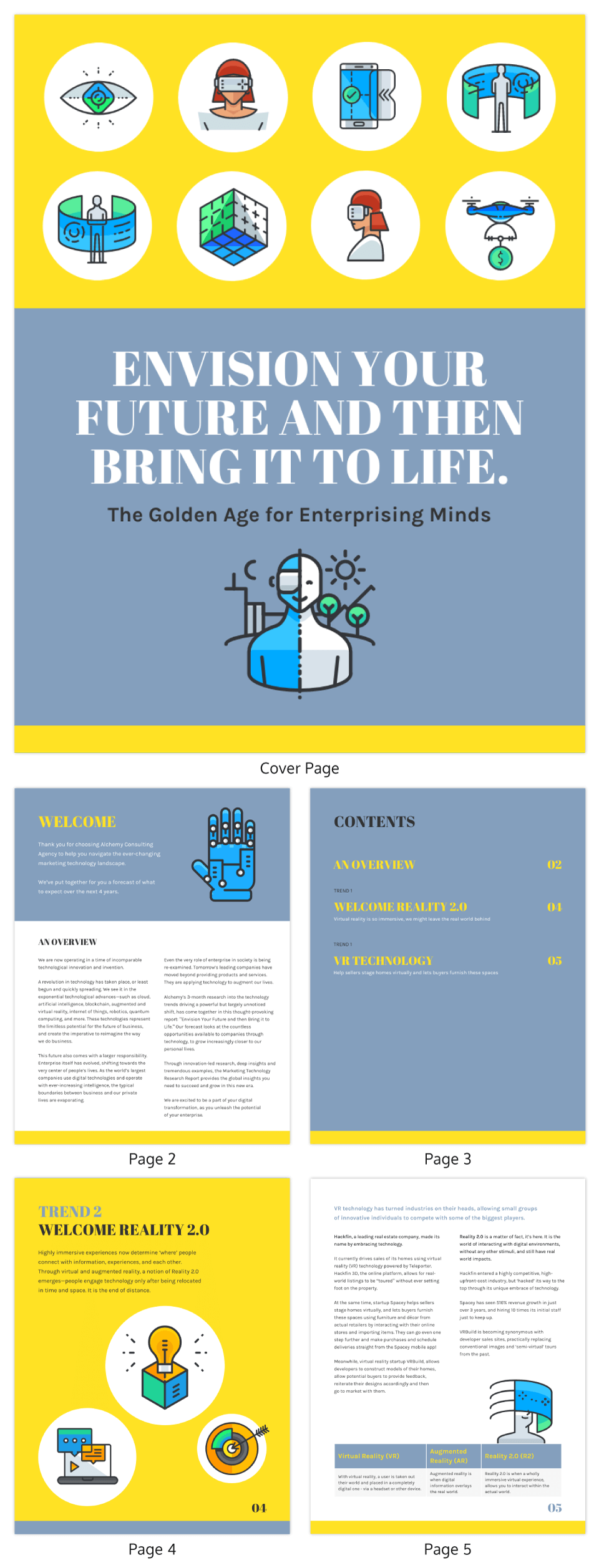 Bold Technology Trends Industry Report Template