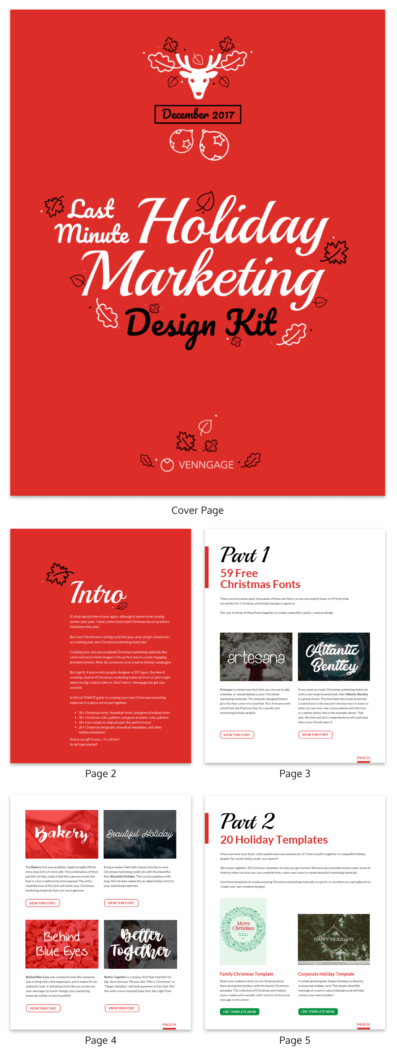 Holiday eBook Template