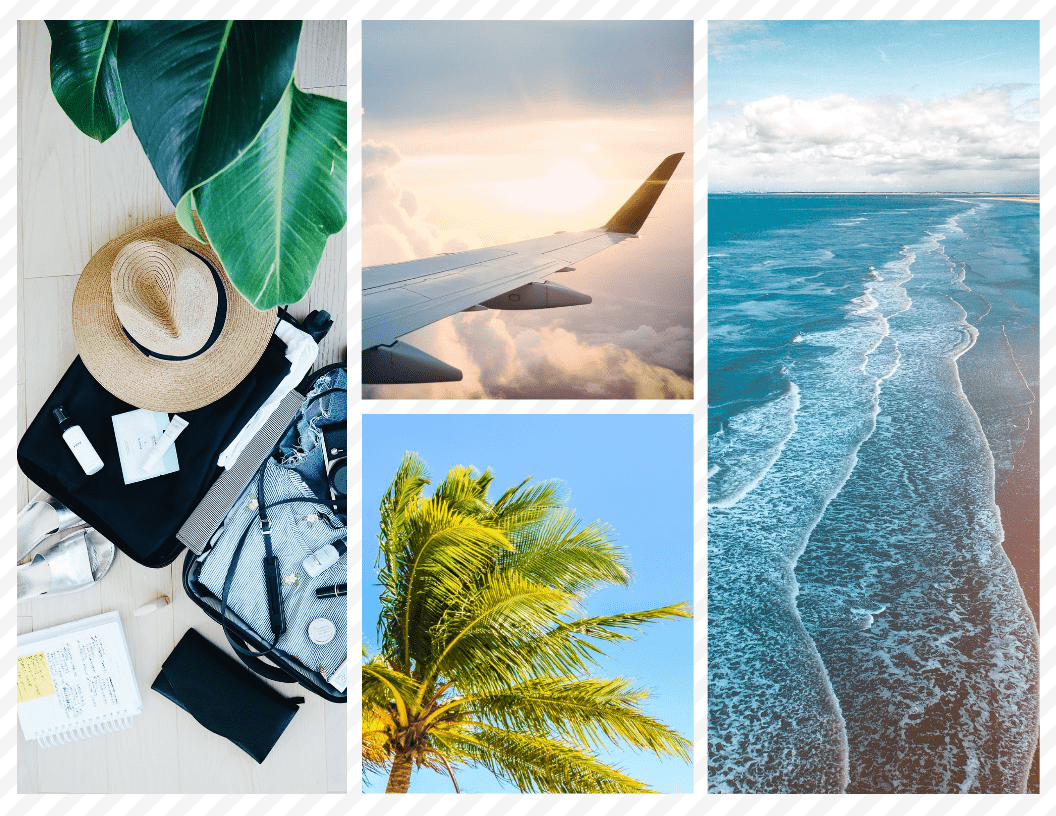 Travel Grid Photo Collage Template
