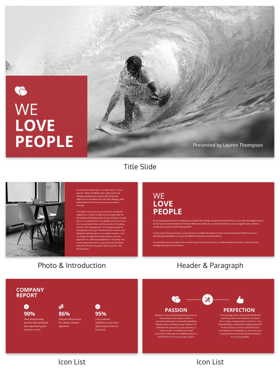 Bold Business Presentation Template