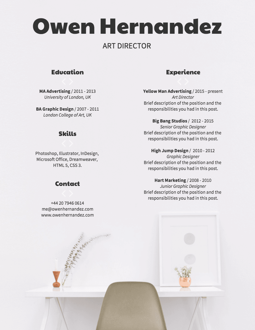 Modern Corporate Resume Template