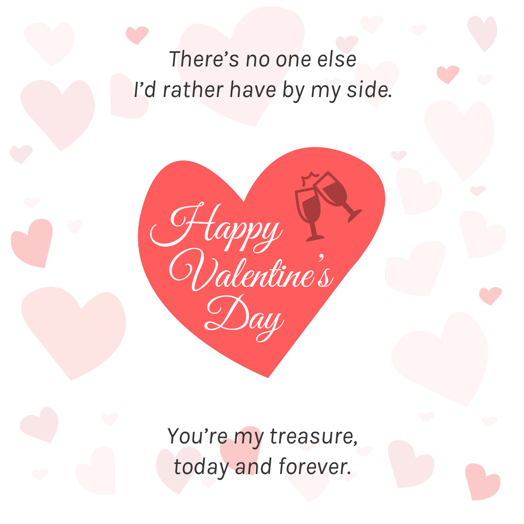 Romantic Hearts Valentine's Day Card Template
