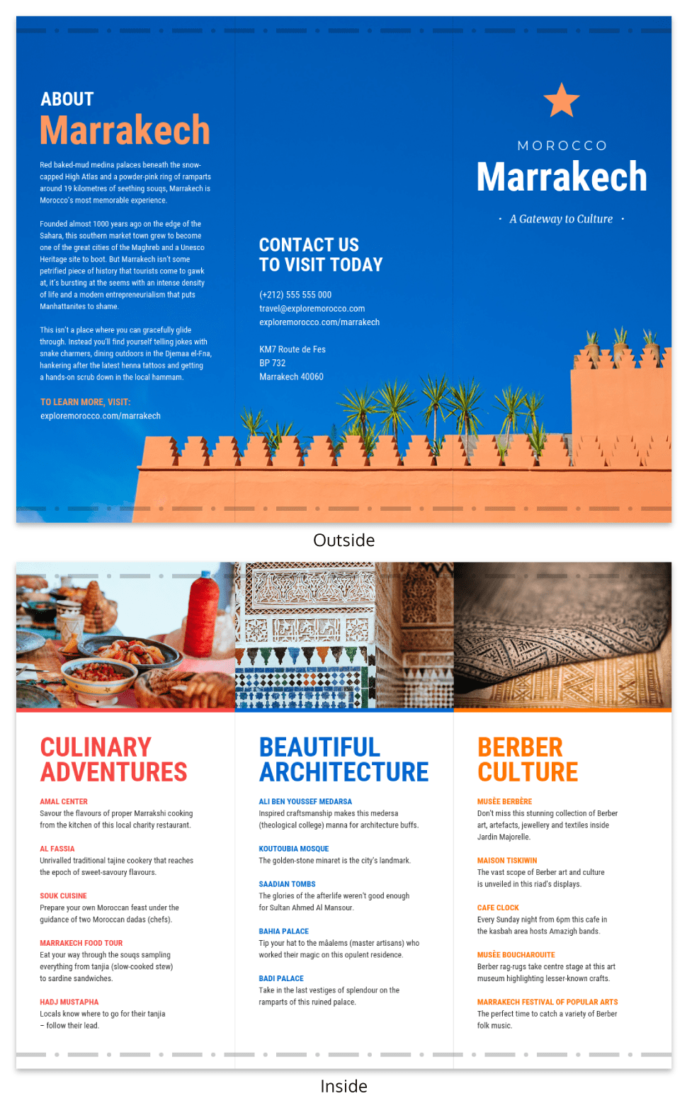 Morocco Travel Brochure Template
