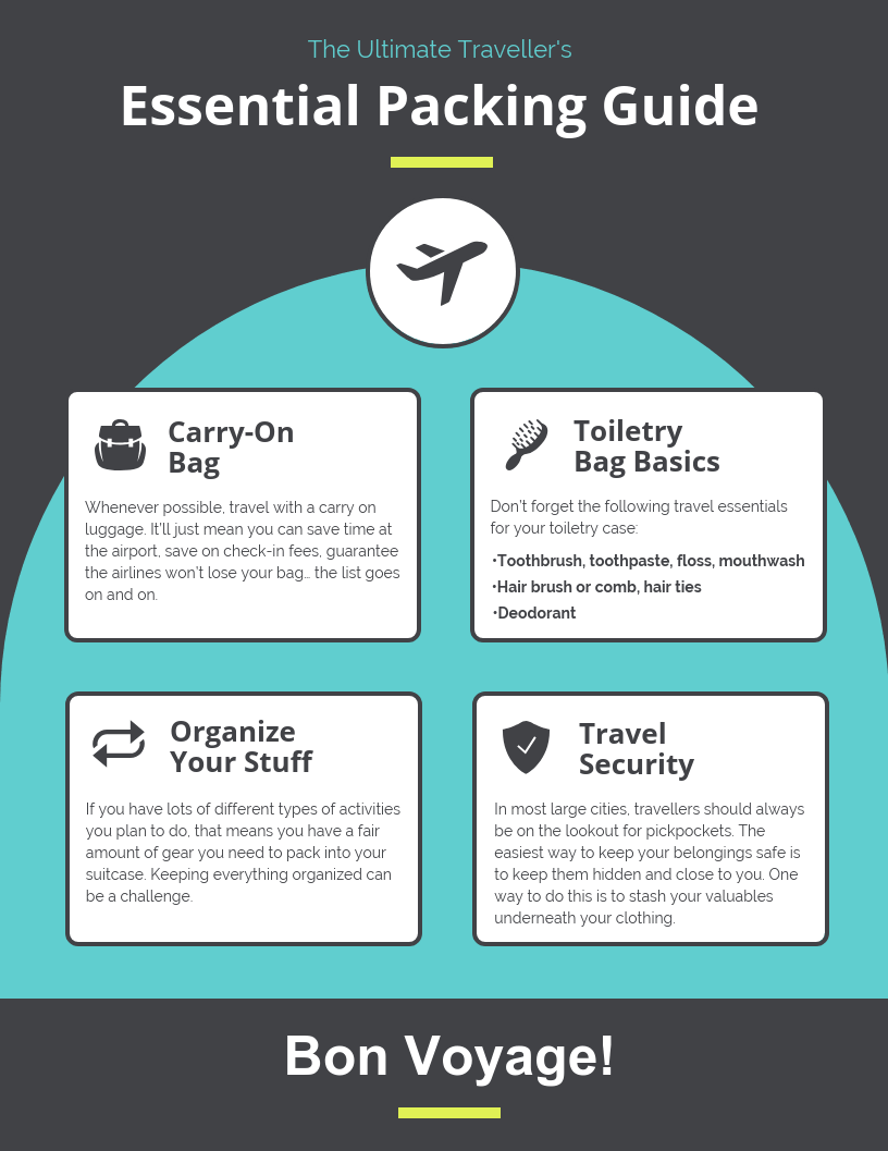 Travel Tips Infographic Template