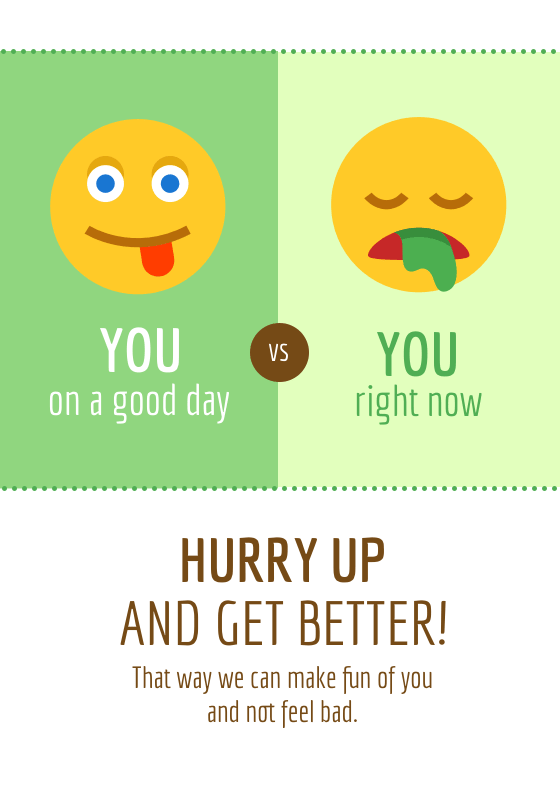 Emoji Get Well Card Template Venngage - Get well card template