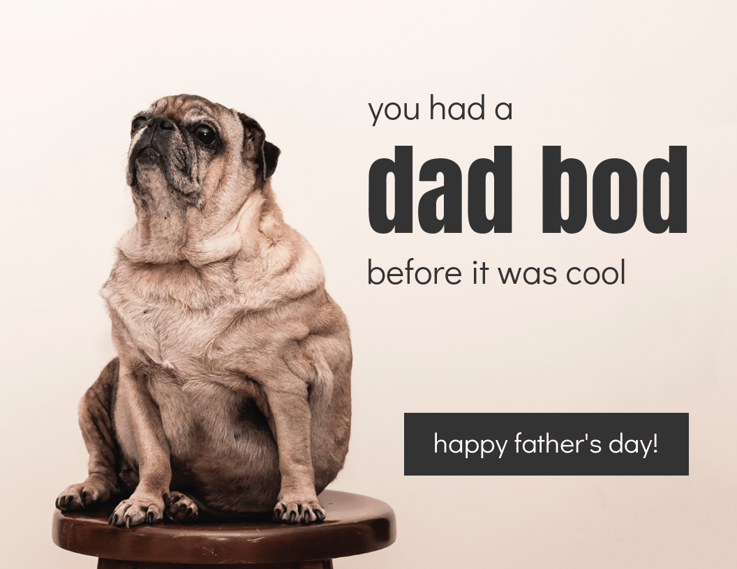 Modern Father's Day Card Template
