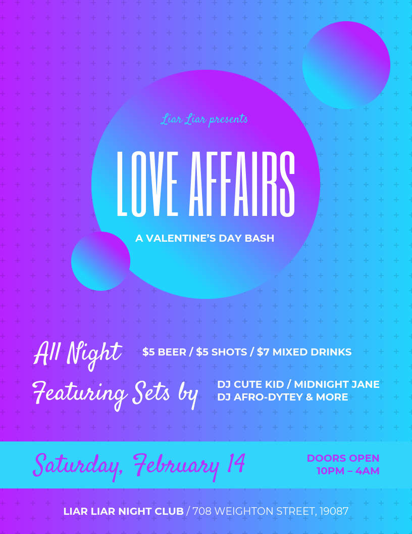 Gradient Valentine's Day Party Flyer Template