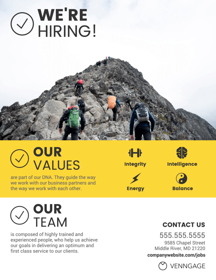 Company Values Infographic Template