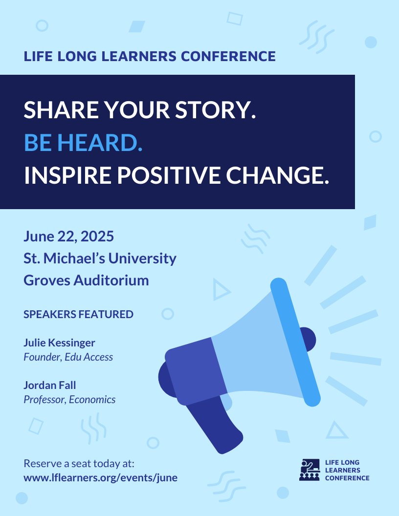 Fun Student Conference Poster Template
