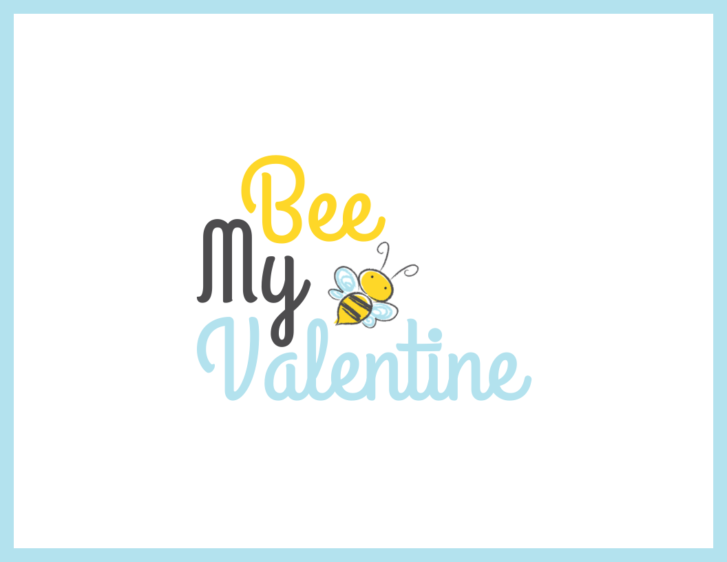 Cute Bee Valentine's Day Card Template
