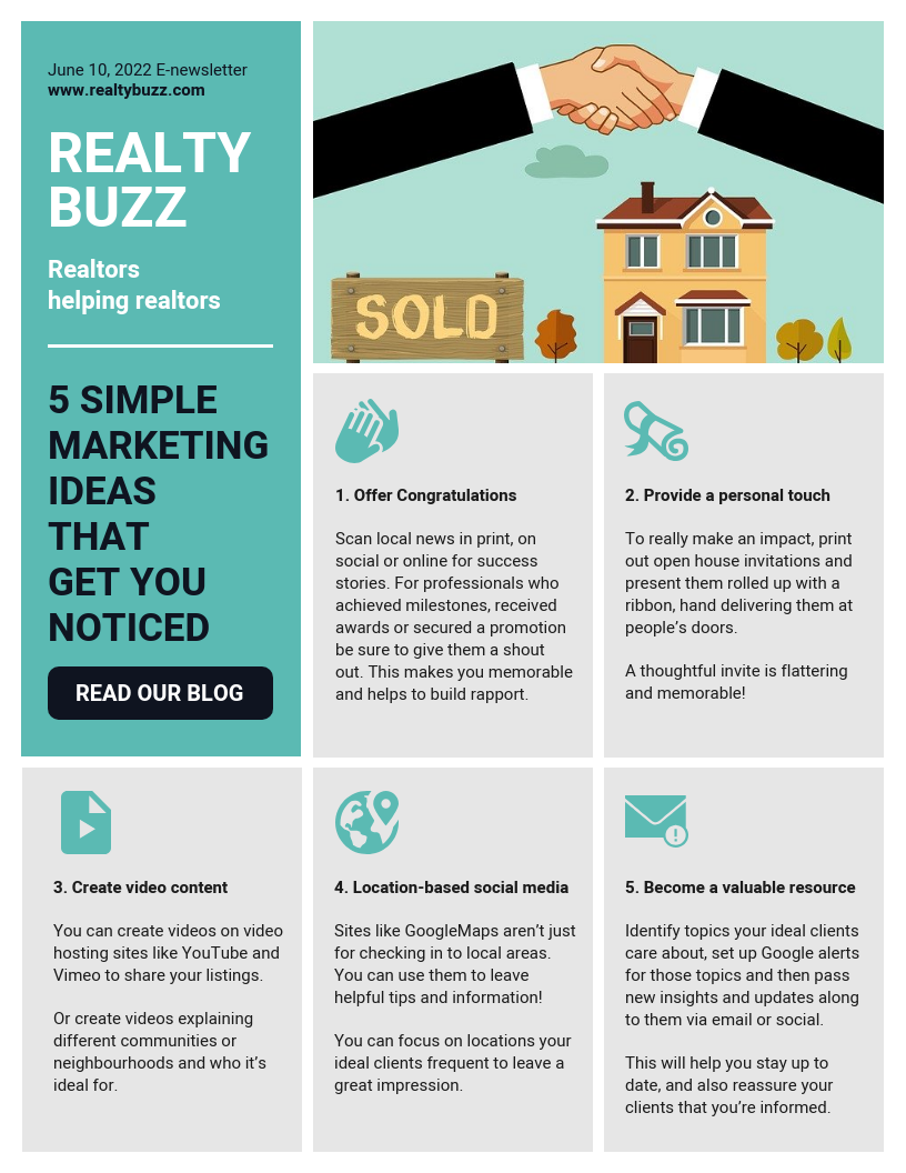 Real Estate Marketing Tips Email Newsletter Template