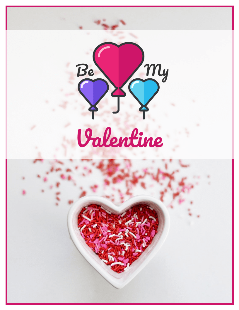 Cute Hearts Valentine's Day Card Template