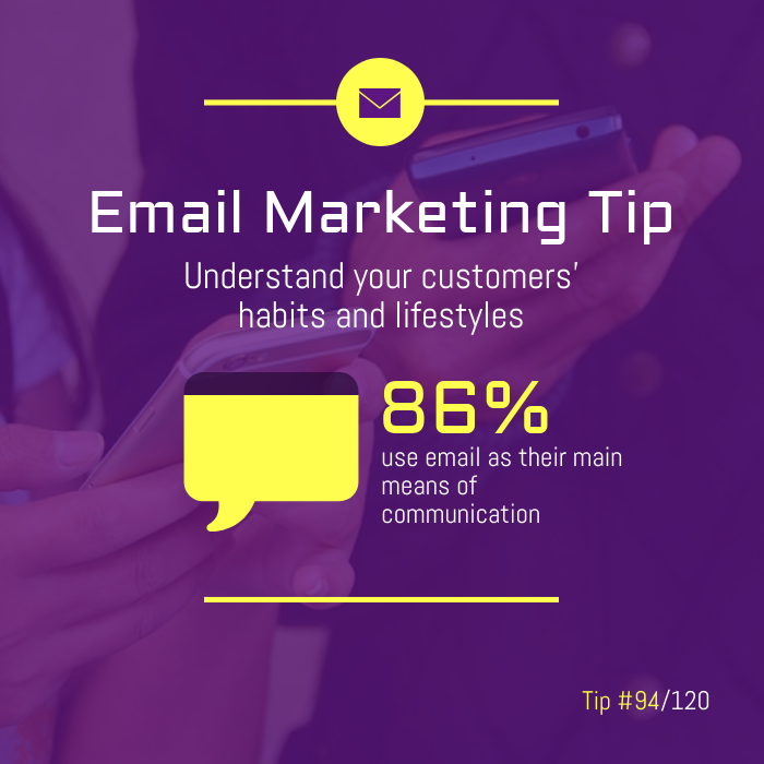 Purple Email Marketing Tip Instagram Post Template