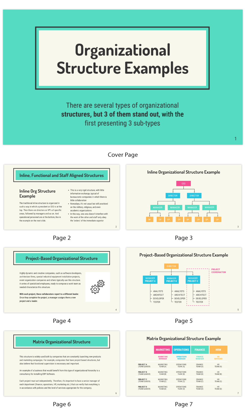 Organizational Structure Business Presentation Template