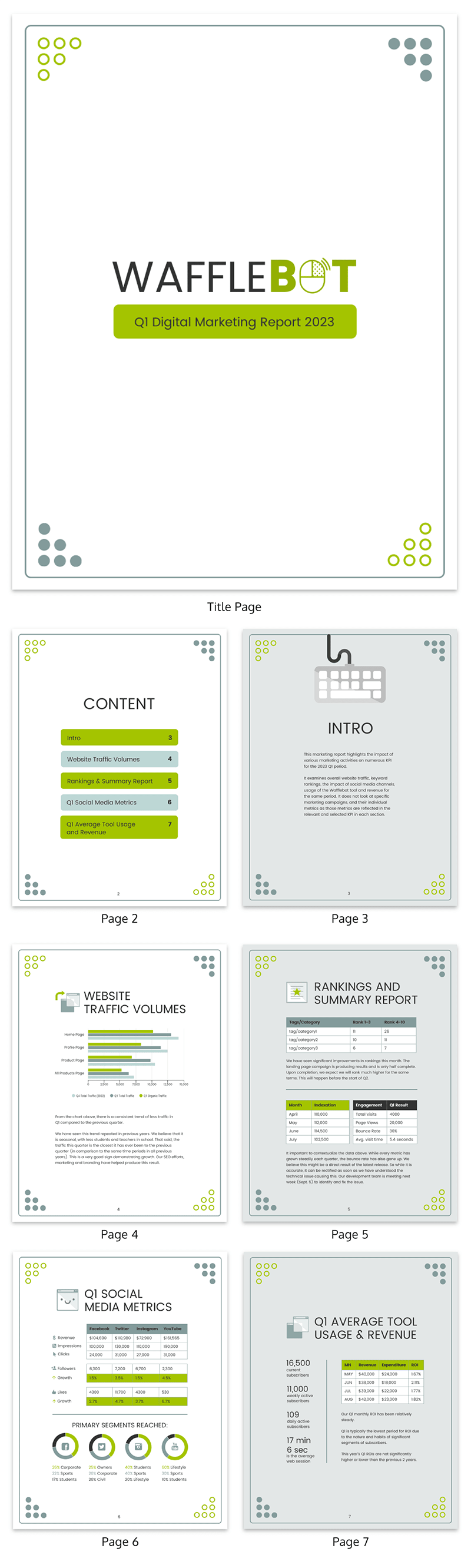 Professional Digital Marketing Report Template