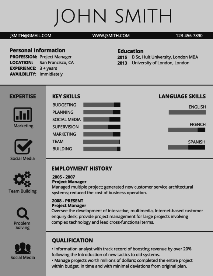 Classic Professional Resume Template