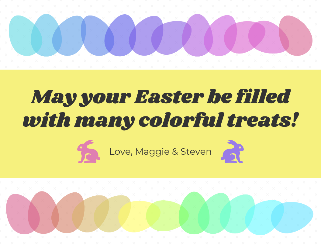 Colorful Eggs Easter Card Template