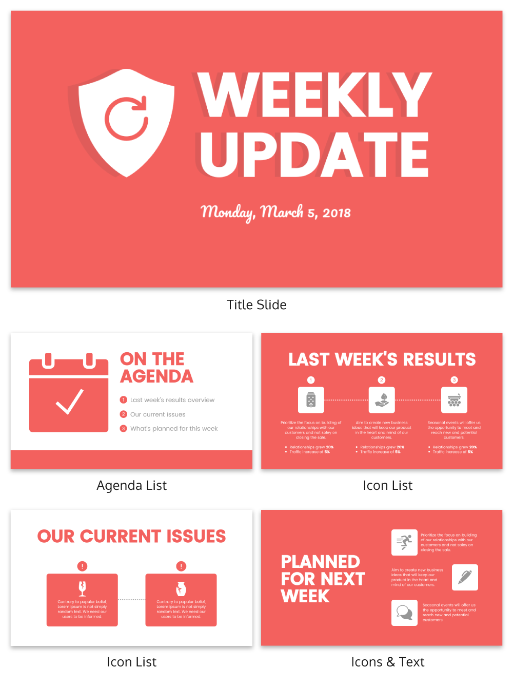 Weekly Update Business Presentation Template