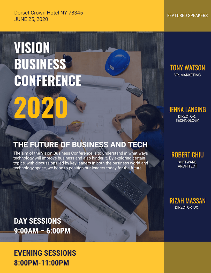 Modern Blue Business Event Poster Template