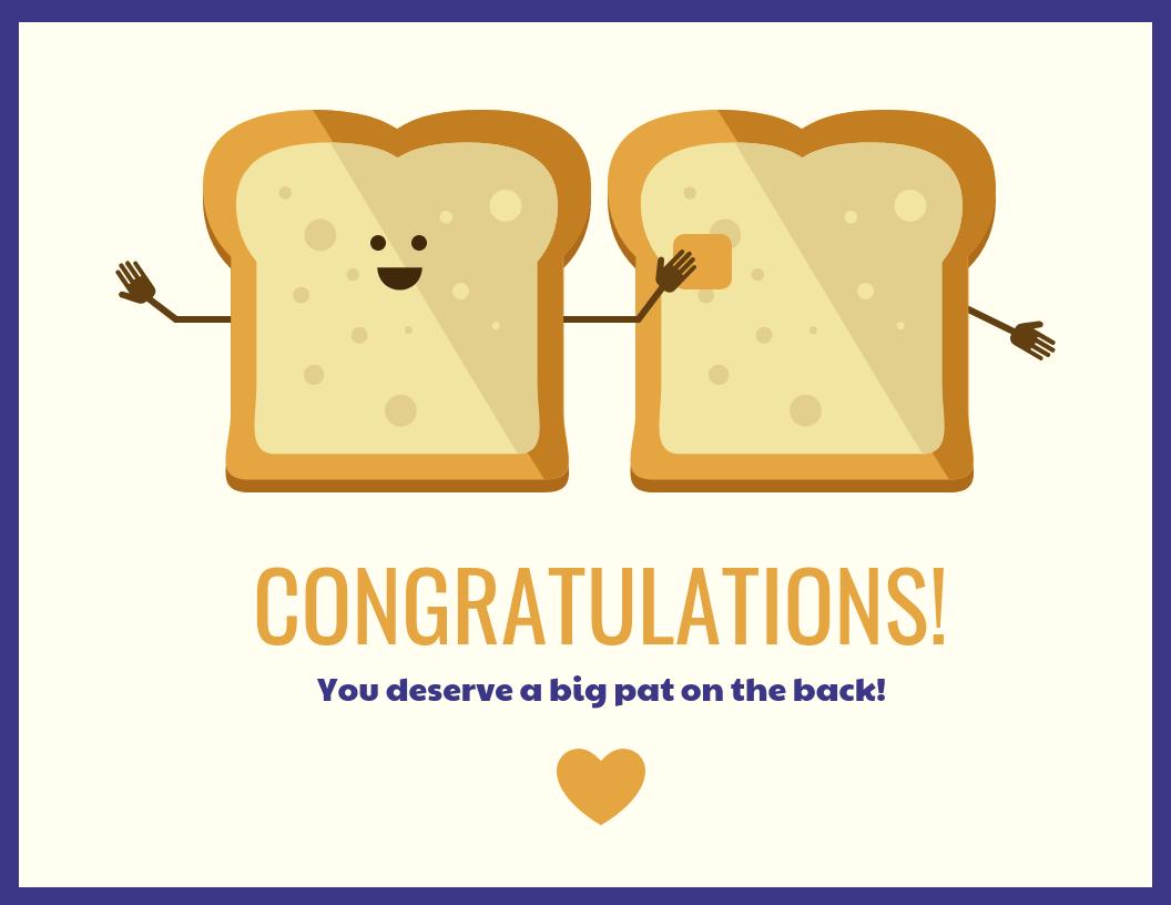 Cute Congratulations Card Template