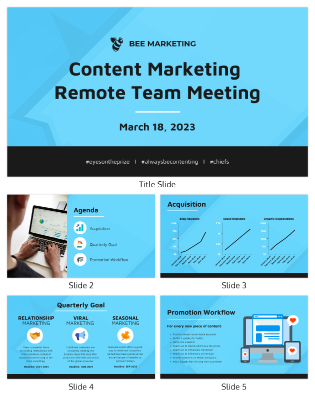 Remote Content Marketing Presentation Template