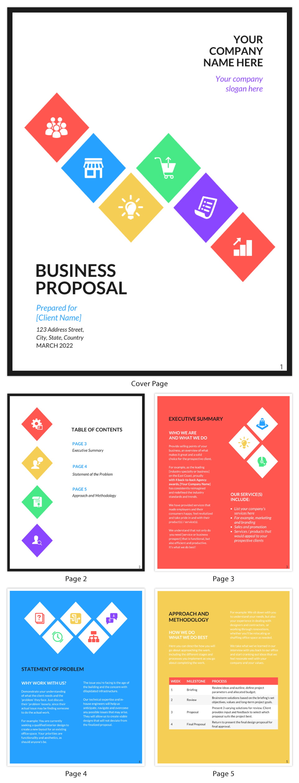 Bold Business Proposal Outline Template