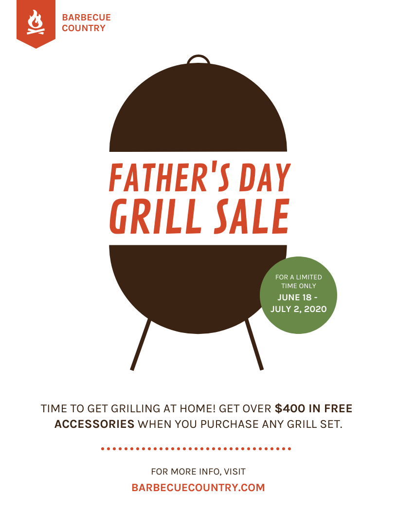 Father's Day Grill Sale Flyer Template