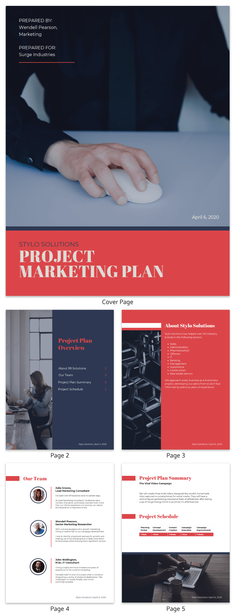 Project Marketing Plan Template