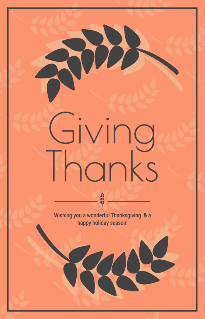 Contemporary Thanksgiving Card Template
