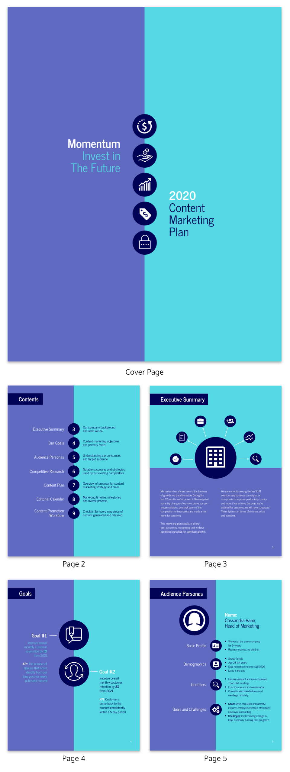 Bold Content Marketing Plan Template
