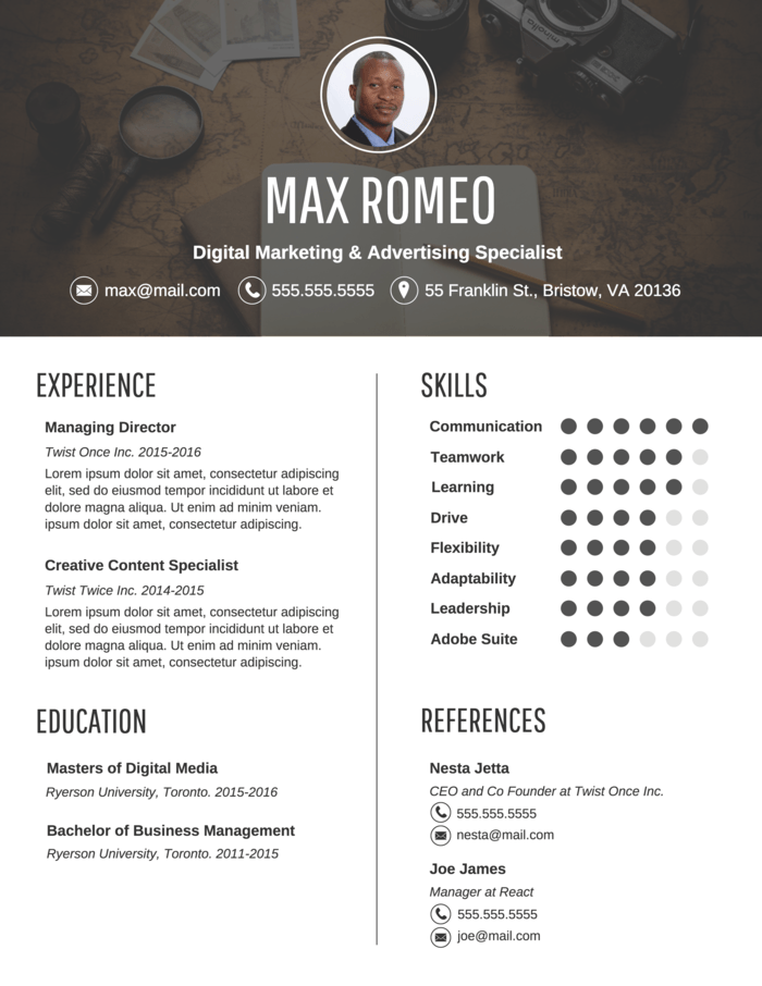Contemporary Professional Resume Template