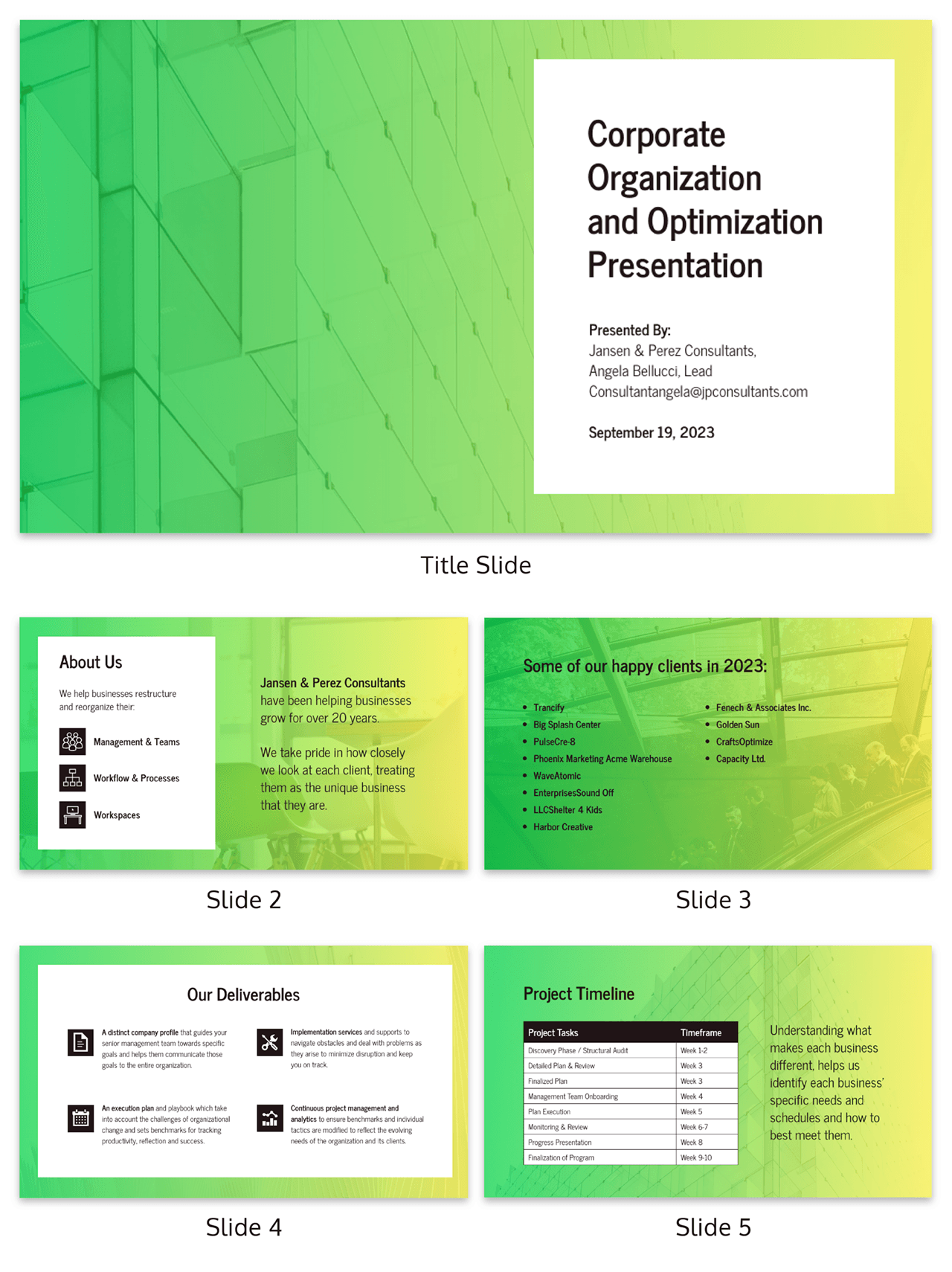 Gradient Business Consulting Presentation Template