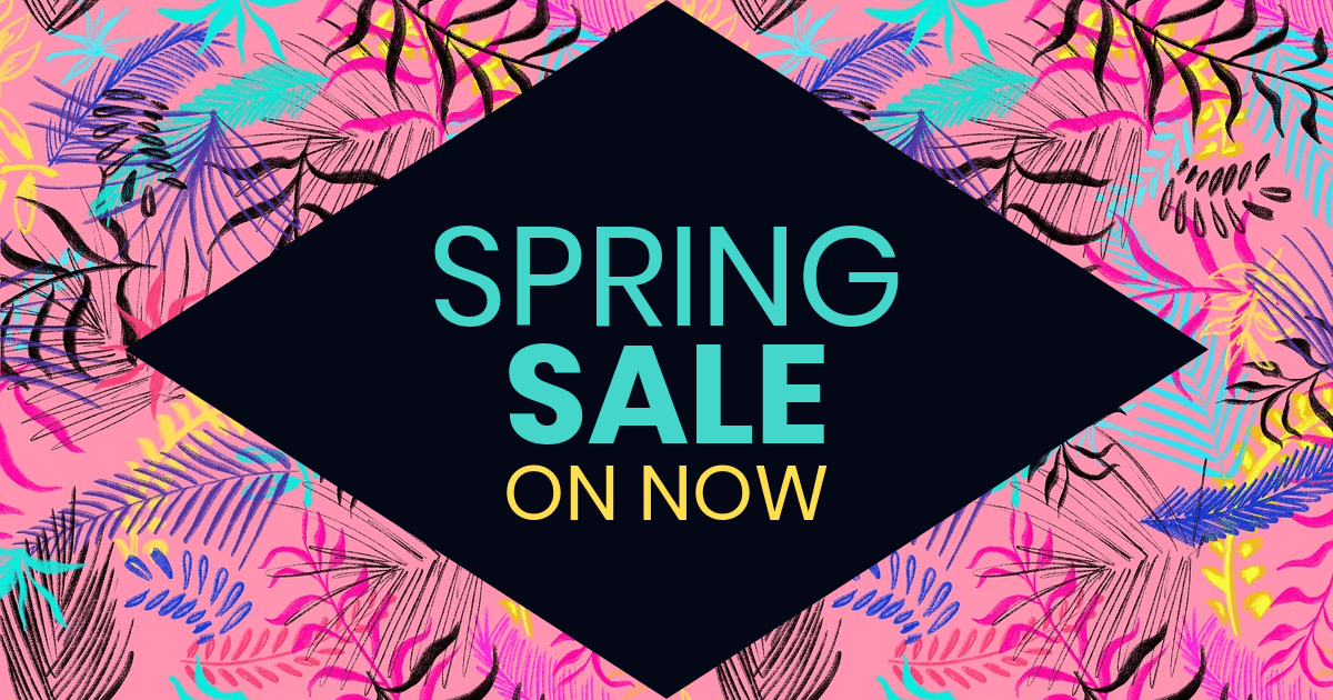 Spring Sale Facebook Post Template