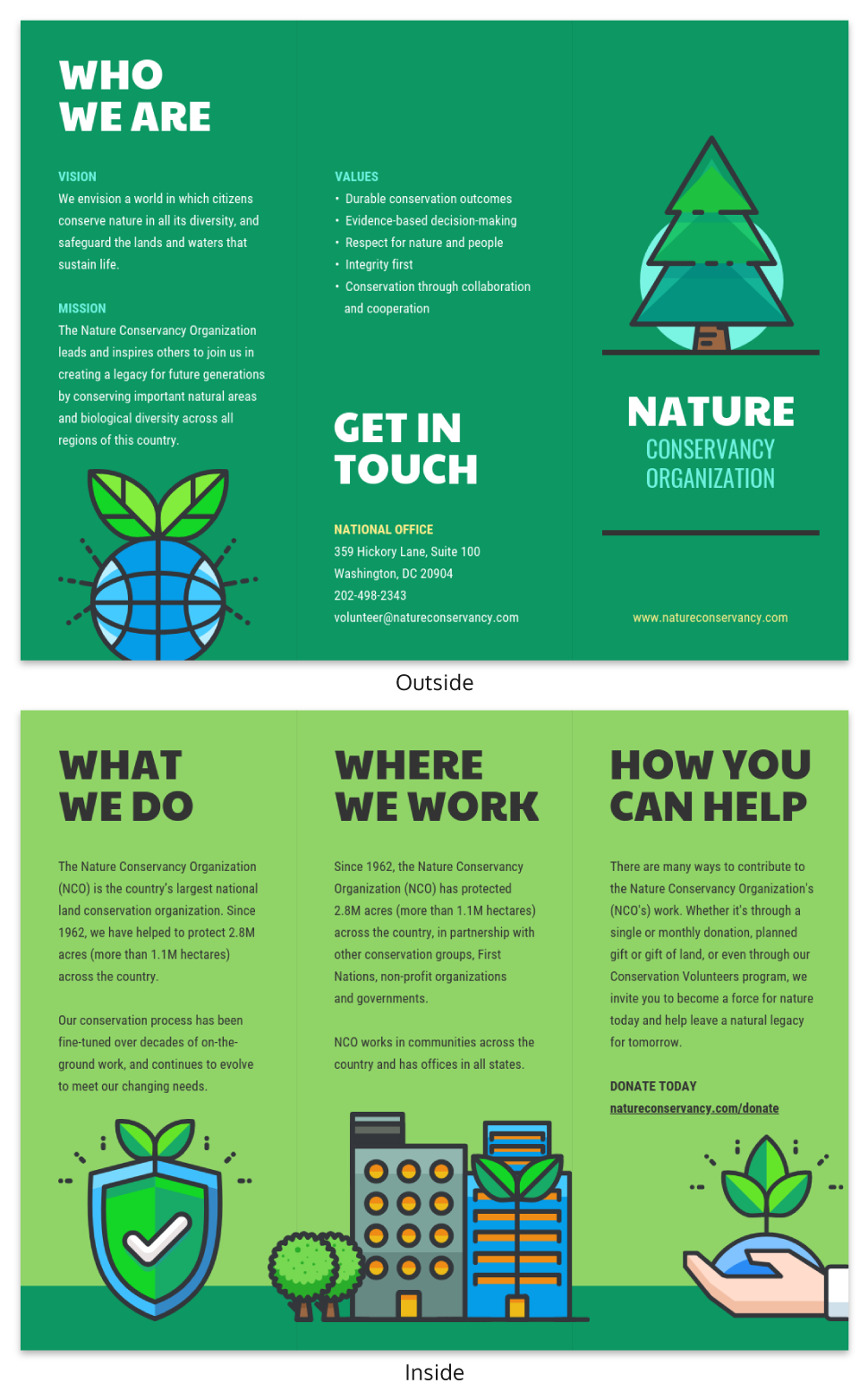 Nature Tri Fold Brochure Template