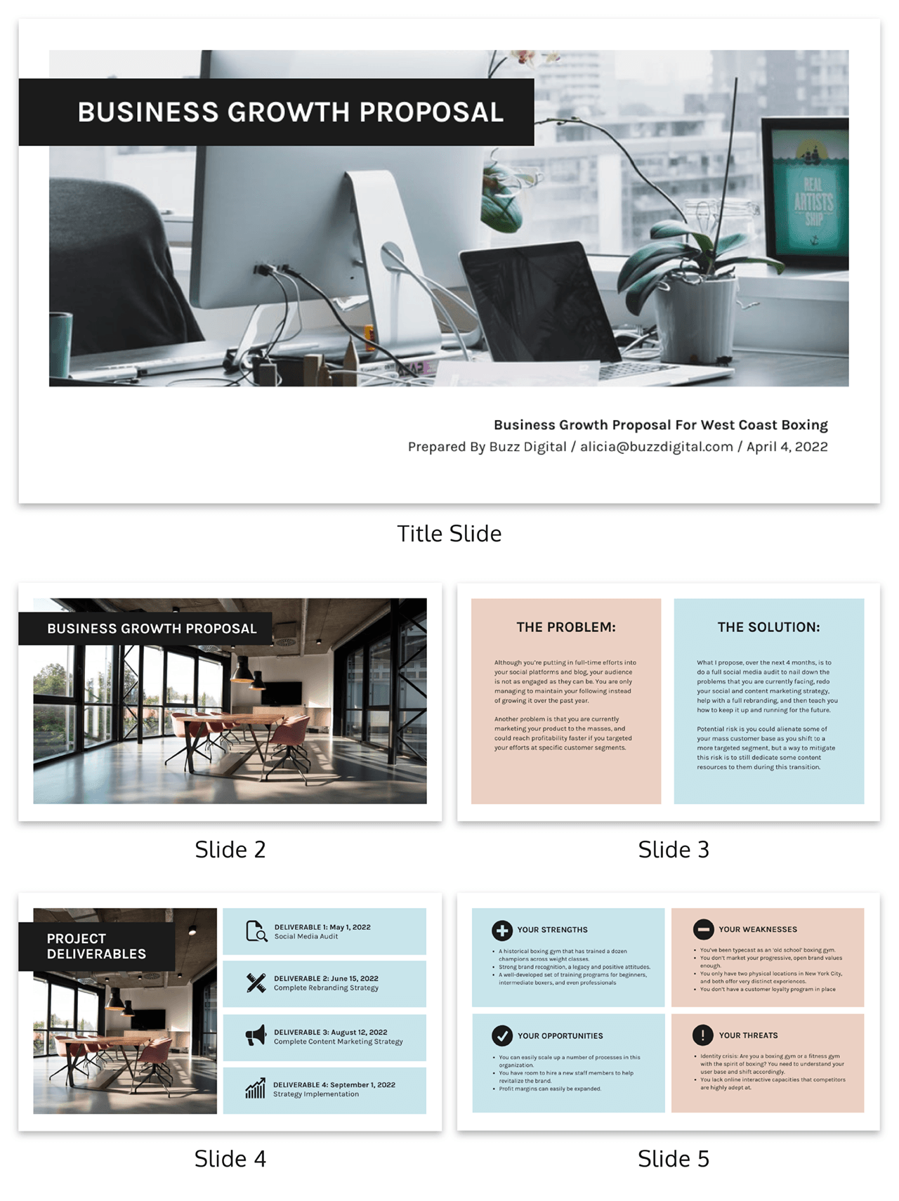 Simple Business Growth Proposal Presentation Template