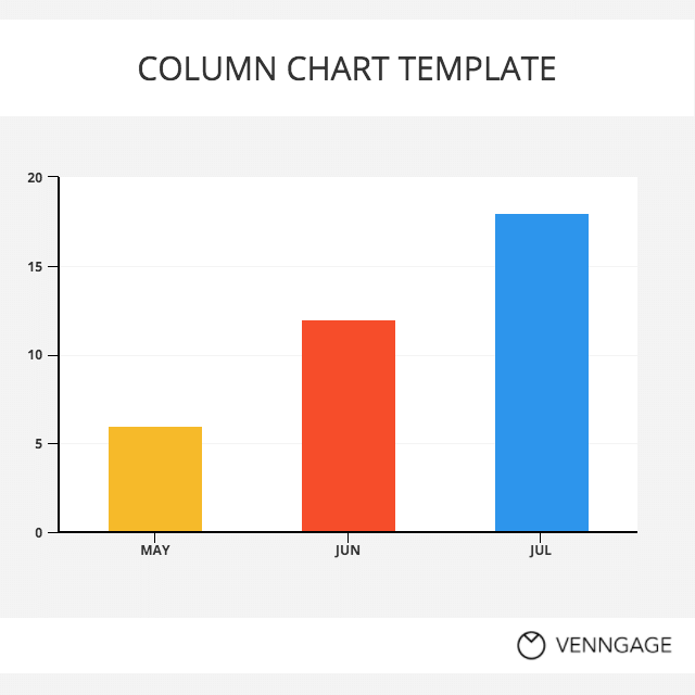 Colorful Bar Chart Template