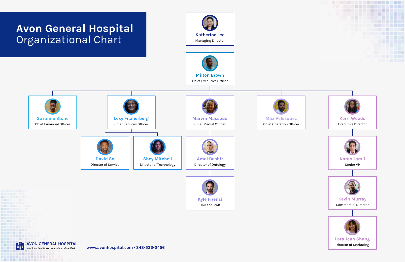 Corporate Hospital Organizational Chart Template